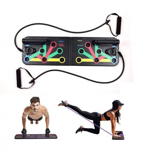 掌上壓訓練板連拉力帶 家居健身神器