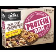 Tasti 黑巧克力蔓越莓蛋白質能量棒(5 條)